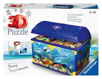 Puzzle 3D Úložná krabice s víkem Podvodní svět/216 dílků