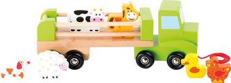 Small Foot Dřevěné tahací nákladní auto se zvířátky