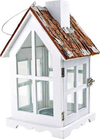Small Foot Dřevěné dekorace lucerna venkovský dům