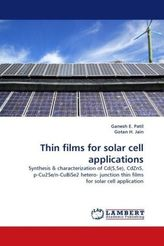 Thin films for solar cell applications