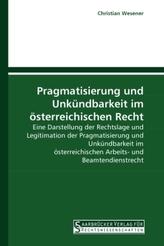 Pragmatisierung und Unkündbarkeit im österreichischen Recht