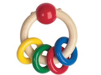 Heimess dřevěné hračky - Chrastítko kroužek - Prstýnky