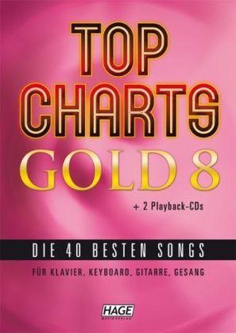 Top Charts Gold, für Klavier, Keyboard, Gitarre, Gesang, m. 2 Audio-CDs. Bd.8