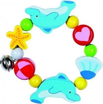 Heimess dřevěné hračky - Elastický kroužek - Delfín