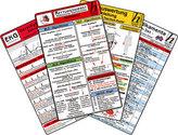 Rettungsdienst Karten-Set - Reanimation, Herzrhythmusstörungen, EKG Auswertung - Anleitung, Notfallmedikamente, 6 Medizinische T