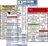 Stations Karten-Set - Reanimation, Medizinische Abkürzungen, Medikamente - Haltbarkeit nach Anbruch, Laborwerte, 4 Medizinische