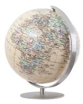 ROYAL Globus, Fuß und Meridian Edelstahl