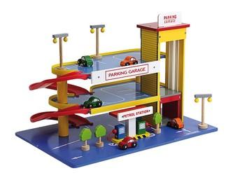 Small Foot Dřevěná garáž parkovací dům