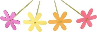 Small Foot Dětské dřevěné dekorace Květinová zahrada zápich 4ks