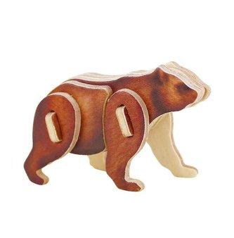 RoboTime Dřevěné sřední 3D puzzle medvěd