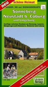 Doktor Barthel Karte Sonneberg, Neustadt b. Coburg und Umgebung