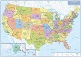 Busche Map Politische Karte USA, plano