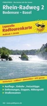 PublicPress Radwanderkarte Rhein-Radweg, 21 Teilktn.. Tl.2
