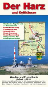 Der Harz und Kyffhäuser, Wander- und Freizeitkarte