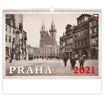 Kalendář 2021 nástěnný: Praha historická, 450x315