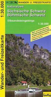 GeoMap Karte Nationalpark Sächsische Schweiz, Böhmische Schweiz