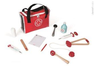 Dřevěný lékařský kufřík pro děti Doktor Janod s 10 doplňky od 3-8 let