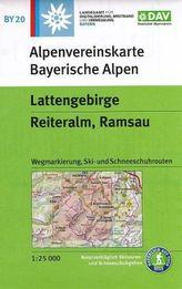 Alpenvereinskarte Lattengebirge, Reiteralm, Ramsau