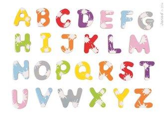 Dřevěné magnetky abeceda Splash Janod 52 ks od 3-8 let