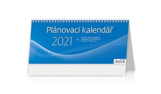 Kalendář 2021 stolní: Plánovací kalendář MODRÝ, 301x135