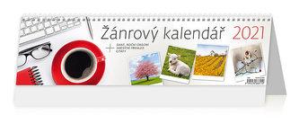 Kalendář 2021 stolní: Žánrový kalendář, 421x115