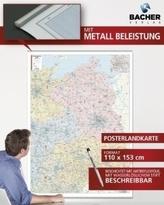 Bacher Postleitzahlenkarte Deutschland Nord-Ost, Brandenburg, Berlin, Mecklenburg-Vorpommern, Freistaat Sachsen, Thüringen, Post