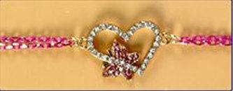 Náramek Srdce s kamínky
