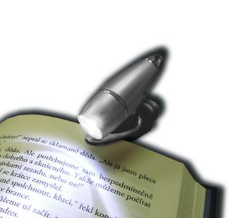 Čtecí lampička s klipem