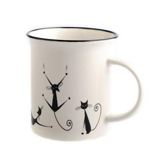 Porcelánový hrnek s motivem koček 310 ml