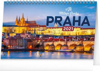 Kalendář 2021 stolní: Praha - Miluju Prahu, 23,1 × 14,5 cm