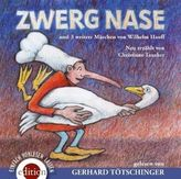 Zwerg Nase und 3  weitere Märchen von Wilhem Hauff, 2 Audio-CDs