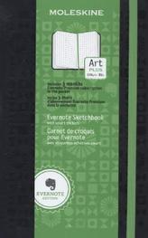 Moleskine Evernote Skizzenbuch, Large, A5, schwarz