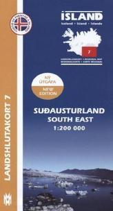 Island - Landshlutakort Sudausturland (Südosten)