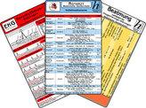 Notarzt Karten-Set - Notfallmedikamente Set,  Herzrhythmusstörungen, Beatmung - Leitfaden für Oxygenierungs-Störungen, EKG Auswe