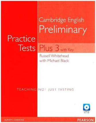 Practice Tests Plus PET 3 with Key and Multi-ROM/Audio CD Pack - Whitehead, Russell