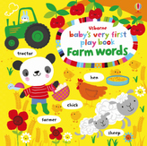 Usborne Baby's Very First Play book Farm words