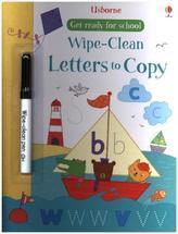 Wipe-clean Letters to Copy, w. pen