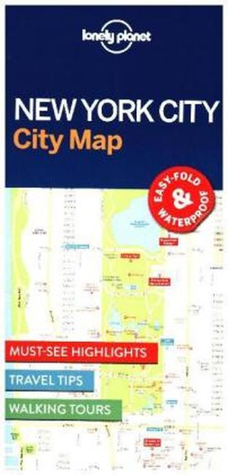 Lonely Planet City Map New York
