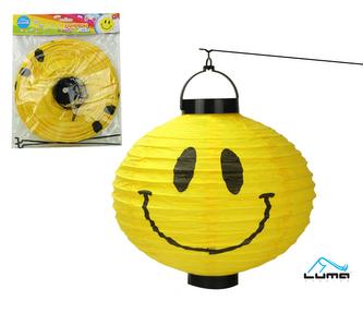 Lampion svítící 25cm kulatý SMILE LUMA baterie