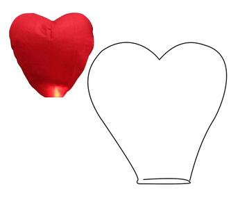 Lampion štěstí srdce LUMA