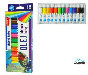 Barvy olejové sada LUMA 12 barev 12ml
