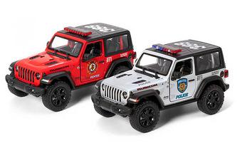 Auto kovové Jeep Wrangler policie/hasiči