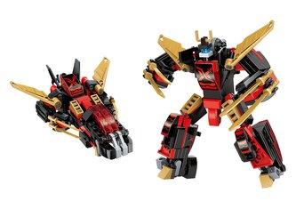 "Qman Guardian of Star\'s Core 3105-4 Robot \""Ninja\"" 2v1"