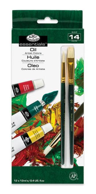 Royal & Langnickel Olejové barvy ARTIST 12x12ml + 2 štětce