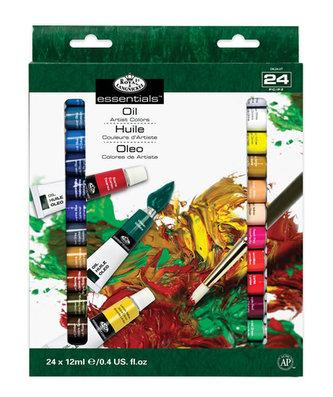 Royal & Langnickel Olejové barvy ARTIST 24x12ml + 2 štětce