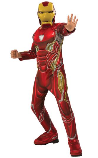 Avengers Endgame: Iron Man - DELUXE kostým s maskou vel. S