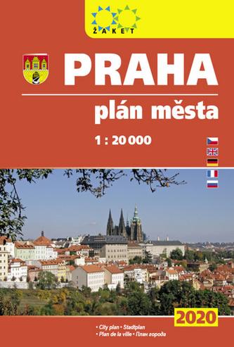Praha plán města 1:20T knižní 2020