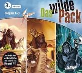 Das wilde Pack Hörbox, 3 Audio-CDs. Folge.1-3