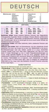 Deutsch - Kurzgrammatik: Die komplette Grammatik anschaulich und verständlich dargestellt