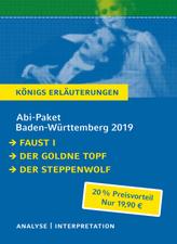 Abi-Paket Baden-Württemberg 2019: Faust I, Der goldne Topf, Der Steppenwolf, 3 Bde.
